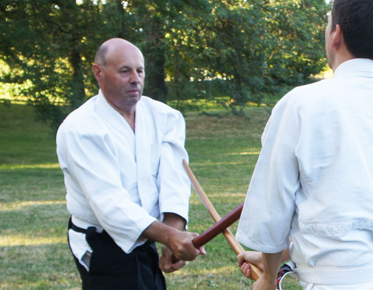 Aïkido 01 à Bâgé dojo d'un sensei art martial traditionnel
